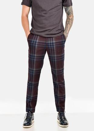 Модные мужские брюки в клетку,   angelo litrico размер 54- 56 наш