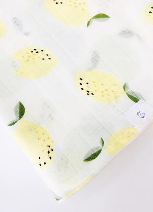 Пелёнка муслиновая 120*100 лимоны
