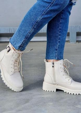 Ботинки бежевые зима