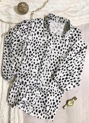 Блуза/ блузка/ рукав фанаріком/волани/принт/сорочка/рубашка.