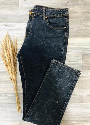 Стильные прямые джинсы с высокой посадкой,goodies  premium denim, италия, р.16/44