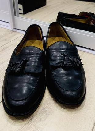Американские мужские кожаные лоферы johnston & murphy, туфли, мокасины, 43 размер