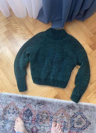 Шикарный велюровый свитер от zara