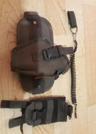 Набедреная тактическая кабура пм + пистолетный ремешок