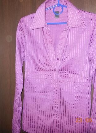 Блуза фиолетовая в блестящую полоску  veromoda.