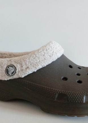 Утеплённые шлёпанцы crocs оригинал