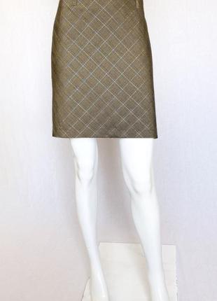 Стильная юбка в золотистую клетку tom tailor, m