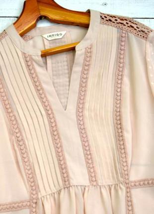 Блуза в стиле бохо пудрового цвета