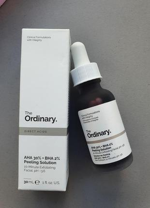 Кислотный пилинг для лица the ordinary aha 30% + bha 2% peeling solution