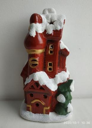 Дом деда мороза подсвечник новый год рождество підсвічник