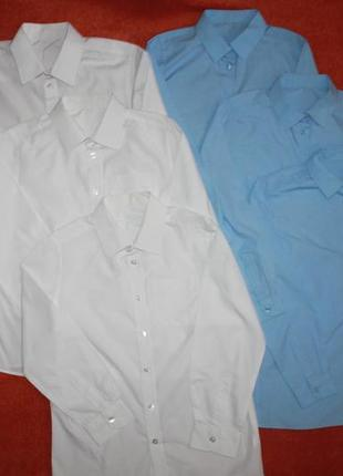Рубахи фирмы f&f синие на 9-11 лет 134-146 см.