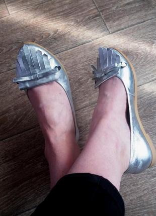 Стильные балетки туфли натуральная кожа