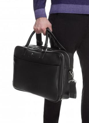 Класичний чоловічий портфель з натуральної шкіри за суперціною