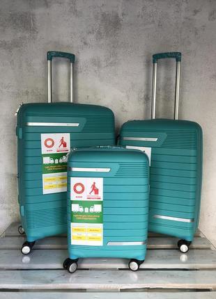 Комплект валіз з поліпропілену, комплект чемоданов премиум класса, snowball, франция