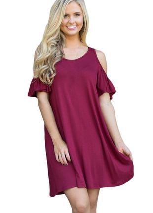 Скидка на обнову 20% платье с вырезами на плечах