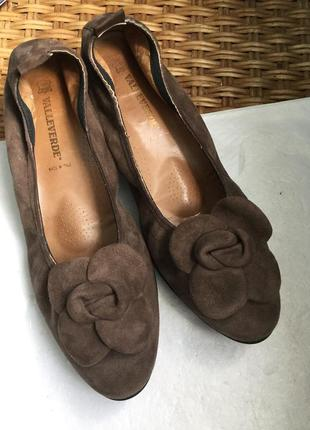 Туфли кожаные замшевые valleverde повышеной комфортности