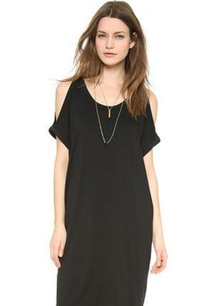 Скидка на обнову 20% черное платье-майка с вырезами на плечах