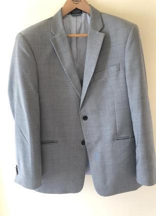 Светло серый пиджак tommy hilfiger