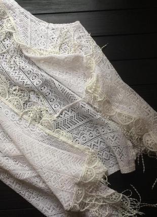 Шикарная белая накидка без рукавов от bershka