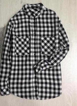 Cтильная рубашка в клетку mango