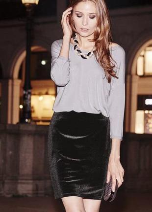 Велюровая стрейчевая юбка esmara германия