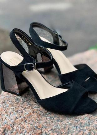 Шикарные черные босоножки (распродажа)