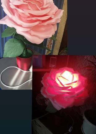 Светильник прикроватный торшер роза