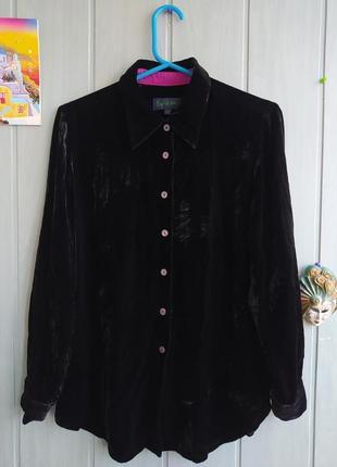 Очень красивая блуза, рубашка, бархатная с добавлением шелка