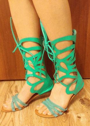 Сандалии гладиаторы шнуровка