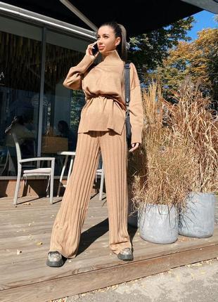 Трикотажный костюм / теплый костюм / осенний костюм / брюки плиссе