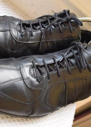 Кожаные туфли мокасины полуботинки геокс geox р.45 30,6 см