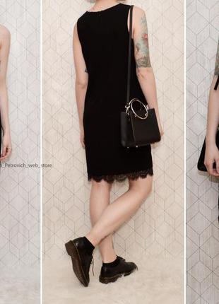Новое черное платье с кружевом