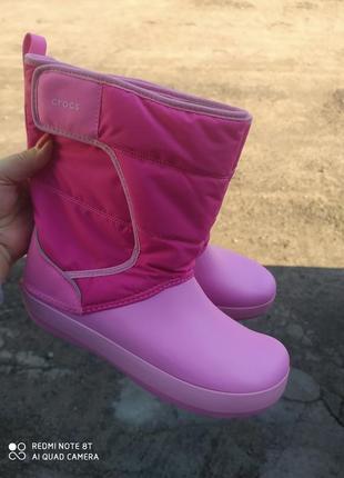Зимние сапоги крокс crocs lodgepoint snow boots, стелька 25 см