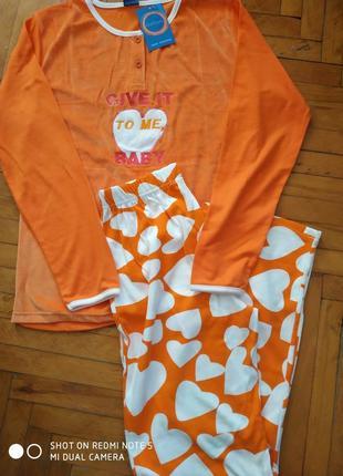 Женская оранжевая  пижама