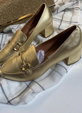Лоферы туфли из натуральной кожи