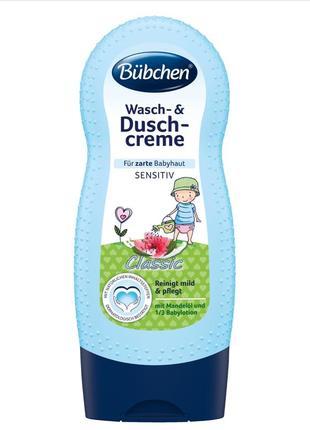 Bubchen wasch-&duschcreme детский крем гель для умывания и купания