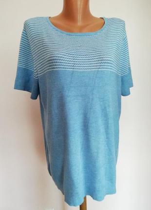 Фирменная базовая большая блузка /xl/46/brend vogele