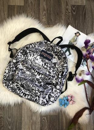 Стильный рюкзак с  крутым рисунком jansport вместительный красивый портфель сумка eastpak