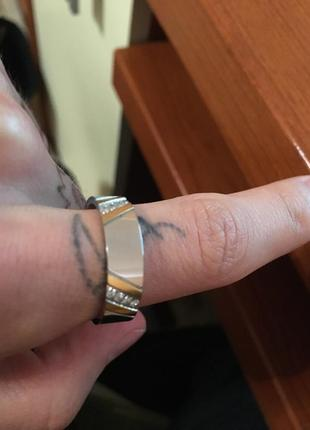 Кольцо  19 размер сталь