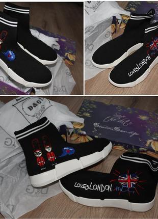 Кроссовки носки в стиле dolce&gabbana