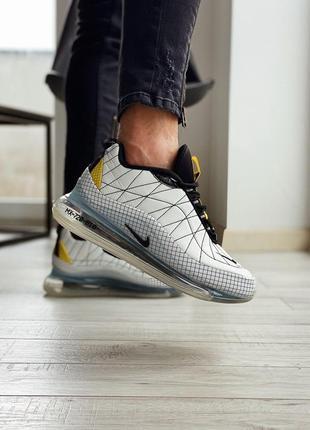 Nike mx 720-818 white black yellow мужские кроссовки серого цвета 😍