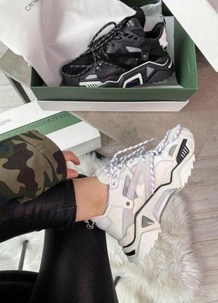 Calvin klein strike 205 sneaker white - premium женские кожаные кроссовки белого цвета 😍