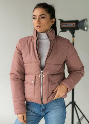 Модная куртка-пуховик