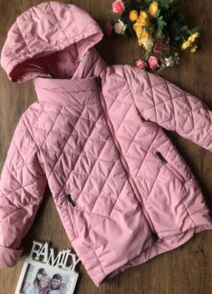 Розовая класная курточка деми для девочки.