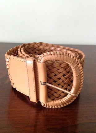 Кожаный светло-коричневый ремень. brend accessorize