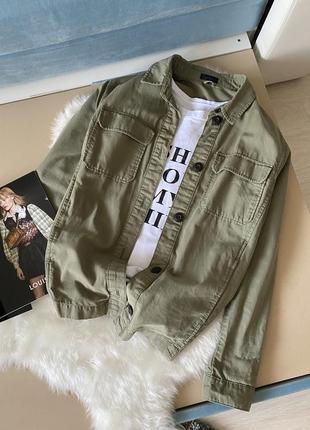 Стильная рубашка хаки topshop