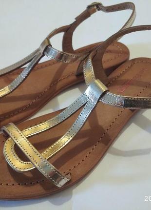 Фирменные кожаные босоножки les tropeziennes