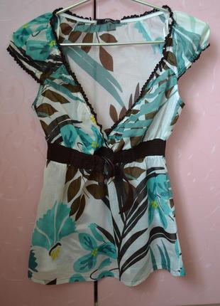 М/38/10. jane norman. англия. кофточка летняя, легкая блуза с коротким рукавом.
