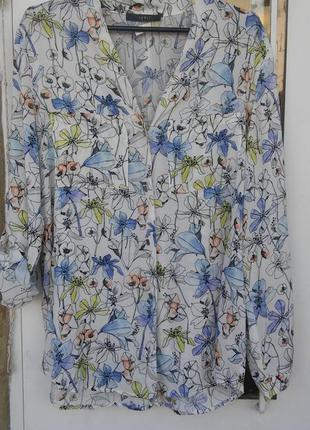 Вискозная рубашка esprit,р-р 10-12
