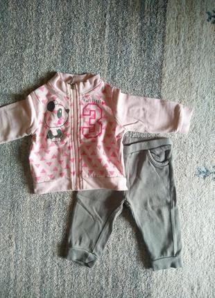 Практичный костюмчик для девочки ovs 🌺 / кофточка та штани на дівчинку
